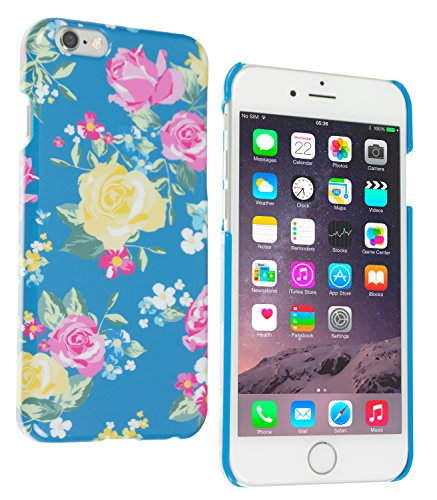 Trendz Hard Shell Schutzhülle Clip-On Case Cover für iPhone 4/4S - London Silhouettes Yellow Rose