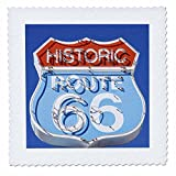 3dRose qs_88027_3 Arizona, Seligman, Neon signage on historic Route 66 - US03 LSE0015 - Lynn Seldon - Quilt Square, 8 by 8-Inch