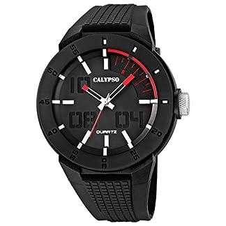 Calypso UK5629/2 – Reloj para Hombres, Correa de Goma Color Negro