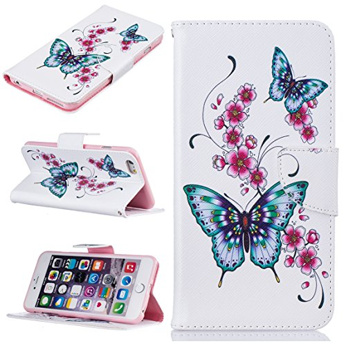 Apple iPhone 6 Plus/6S Plus 5.5 hülle, Voguecase Kunstleder Tasche PU Schutzhülle Tasche Leder Brieftasche Hülle Case Cover (Grüner Teppich 03) + Gratis Universal Eingabestift Mondschein-Eule