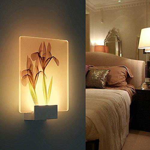 fixé au mur Led Applique, Creative Moderne Salon Chambre Lampe de Chevet Escalier Couloir Lampe Murale Rectangulaire (style : K)