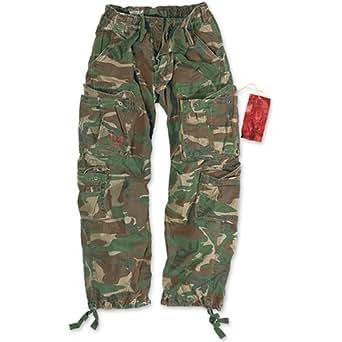 "Surplus Airborne Vintage Unisex Trousers  - 32"" (Small) , Woodland"
