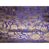 Silk Brokat-Stoff violett & Metallic antik gold 111,8 cm