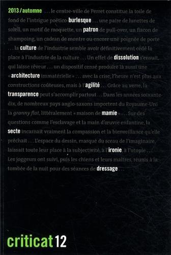 Criticat, N° 12 automne 2013 :