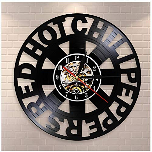 MXHSX Red Hot Chili Peppers Vinyl Record Wanduhr, 12