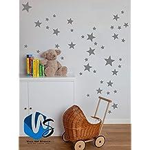 vinilo para pared de estrellas de varios tamaos para decoracin de habitacin infantil