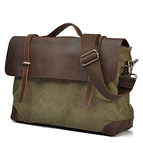 koson-man-unisex-durable-vintage-literary-canvas-messenger-bag-single-shoulder-bagarmygreen