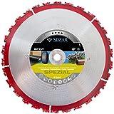 NOZAR Rip Cut Ø350 mm mit Bohrung 25,4 mm (6702169) Hartmetall-Trennscheibe für Baum-Wurzeln, Holz, Dachpappe, Bitumenbahnen, Gummi & Kunststoff