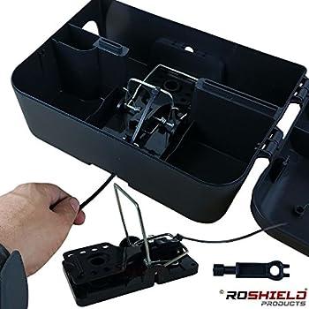 1 X Roshield External Rat Snap Trap Control Box - Green No Poison Professional Solution 0