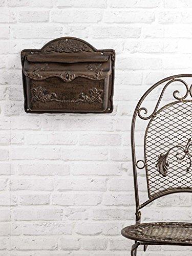 Briefkasten Wandbriefkasten Eisen Antikstil Landhausstil Shabby iron letterbox - 2