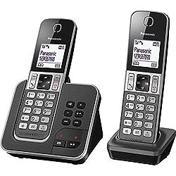 Panasonic KX-TGD322 Téléphones sans Fil Répondeur Ecran Noir