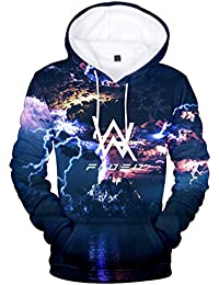 ZIGJOY Alan Olav Walker 3D Printed Sweatshirt Moda Music Hoodie para Hombre y Mujer