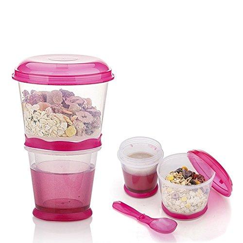 Fjiujin,Tasses de boissons de petit déjeuner(color:TULIPE ROSE)