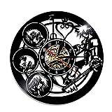 YUN Clock@ Wanduhr aus Vinyl Schallplattenuhr Upcycling Kingdom Hearts - 3D Design-Uhr Wand-Deko Vintage Familien Zimmer