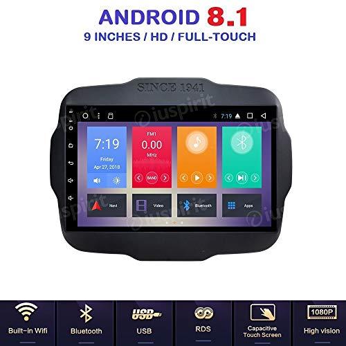 ANDROID 8.1 Allwinner T3 GPS USB WI-FI DAB+ TPMS MirrorLink Bluetooth autoradio navigatore Jeep Renegade 2014 2015 2016 2017 2018
