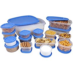 Princeware SF Package Container Set, 18-Pieces, Blue