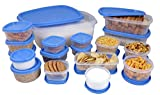 #4: Princeware SF Package Container Set, 18-Pieces, Blue