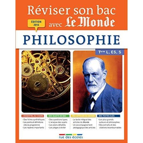 Réviser son bac avec Le Monde : Philosophie by Collectif (2016-01-08)