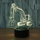 3D Baggernachtlicht Illusion LED Tabelle Tauchen 7 Farben USB Neuheit Auto Form Schreibtisch...