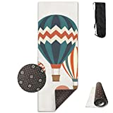 FGRYGF Hot Air Balloons Yoga Mat - Estera de Yoga - Non-Slip Lining - Easy To Clean - Latex-Free - Lightweight and Durable - Long 180 Width 61cm
