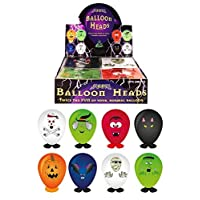 HENBRANDT 8 X Self Making Halloween Balloons Heads (assorted)
