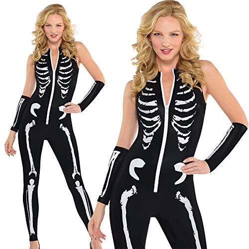 Halloween-Kostüme, europäische und amerikanische Geister, Horror, Skelett, Overall, Geisterkleidung, Party-Performance, Cosplay, Erwachsene Frauen (Color : B, Größe : XL)
