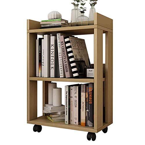 AOLI Bücherregal Wandregale Moderne Minimalistische Kleine Hölzerne Kinder 'S Kleines Bücherregal, Bücherregal Boden Kreative Gürtel Rad Abnehmbare Einfache Rack Starke Stabilität