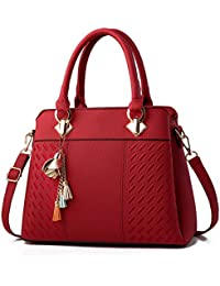 85f7a0061167 Charmore Women s Handbags PU Leather Tote Top Handle Shoulder Bags