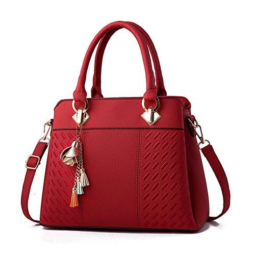 Charmore Damen Handtaschen für Frauen PU Leder Umhängetasche Taschen Tote