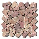 M-1-002 - 1 m² = 11 Fliesen - Natursteinmosaik Marmor Bruchstein Mosaikfliesen Marmormosaik Fliesen Lager Verkauf Stein-Mosaik Herne NRW
