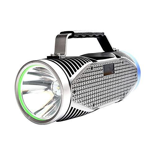 YYBT LED-Suchscheinwerfer, 150W superhohe Leistung 12000MAH mit USB-wiederaufladbarer Camping-Leuchte tragbare Taschenlampe, geeignet für Outdoor-Abenteuer-Wandern -