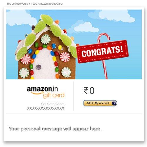 amazon com gift card india