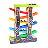 #7: Oasis Webby Wooden Ramp Race Track Car Set Toy (Large, Multicolour)