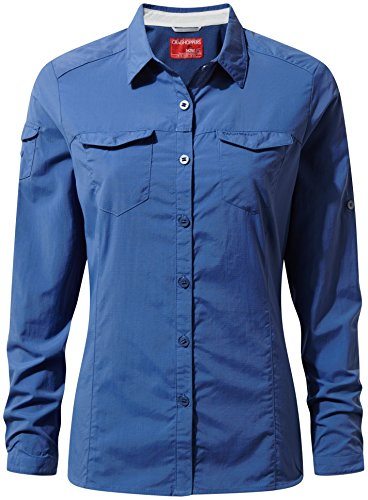 Craghoppers Herren CR166 Nosilife Adventure langärmelige Shirt soft denim 39I