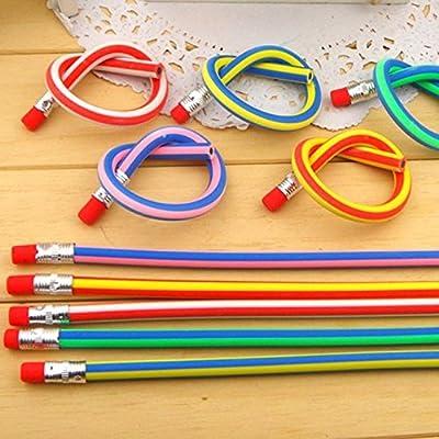 AHG Soft Flexible Bendy Pencils Magic Bend Kids Children School Fun Equipment