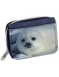 Snow White Sea Lion Girls/Ladies Denim Purse Wallet Christmas Gift Idea