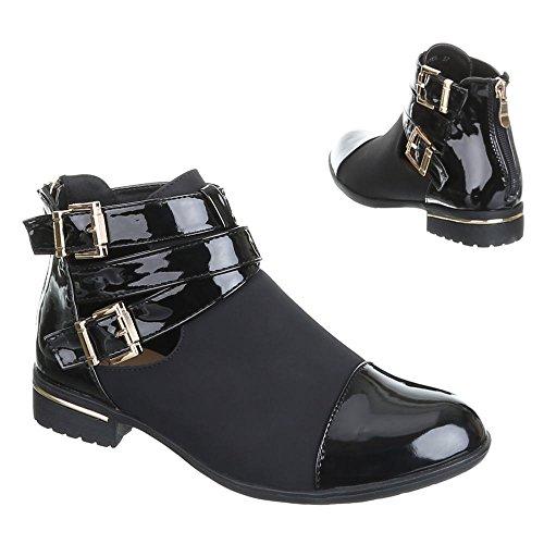 BOOTS bottes femme chaussures mQ1806, chaussures Noir - Noir