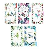 Funcoo - 2 juegos de 5 tarjetas de índice de carpetas de plástico con separadores de páginas y 2 separadores de calendario 2018 para carpetas de anillas A5 de 6 agujeros, cuaderno y artículos de papelería, color Style-1