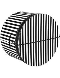 Lierys Hutschachtel Hutbox Streifen 42 cm für Damen und Herren Hutbox Hutschachtel Hutzubehör Winter Sommer