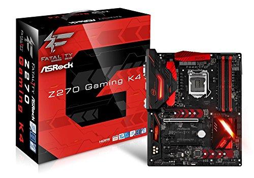 Asrock Fatal1ty Z270 Gaming K4 Motherboard, Intel Z270, LGA 1151 grau