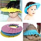 #7: Inditradition Baby Shower Cap | Waterproof Bathing Cap with Ear Protection Flap | Pack of 1 (Multi-Color)