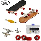 Mini diapasón, Patineta de dedos profesional para Tech Deck Maple Wood DIY Assembly Skate Boarding Toy Juegos de deportes Kids Christmas Gift por AumoToo (Rojo)