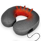 Cuscino Cervicale da Viaggio Gonfiabile con Terapia Caldo - Cuscino Cervicale Termico Cuscino Viaggio Gonfiabile Rilassante Massaggio con Calore di Grafene (Blu)