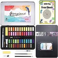 Dazspirit 48 Colores Caja Acuarelas Profesionales & Papel de Acuarela. Versátil, Vibrante y Portátil (48 Colores)