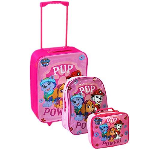 Nickelodeon® Paw Patrol oficial niños niños escuela viaje Trolley Bolsa de equipaje, mochila y bolsa para el almuerzo conjunto rosa Rosa - Pink Junior Set