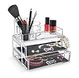 Direct Retail Products Make-up Organizer, Acryl, groß, mit Schubladen, Transparent