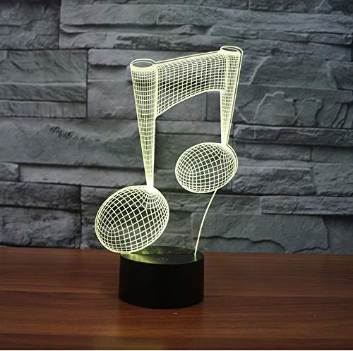 harakter Kreative 3D Nachtlicht Led Tischlampe Acryl Note Schrittweise Energiesparende Tabelle Moderne Schreibtischlampe ()