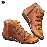 Cherishly Stiefel mit Arch Support,Damen Stiefel, Frauen Winterstiefel,der Stiefeletten Herbst Vintage Frauen Schuhe Bequeme Flache Ferse Stiefel Kurze Stiefel
