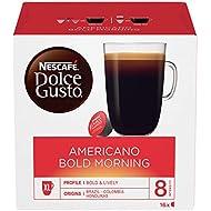 NESCAFÉ Dolce Gusto Americano Bold Morning Coffee Pods, 16 Capsules (16 Servings)