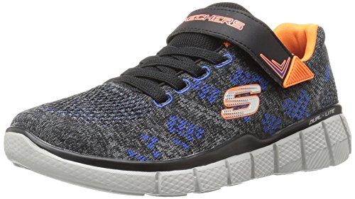 Skechers Jungen Equalizer 20-Point Keeper Sneakers, Grau (Ccbk), 34 EU
